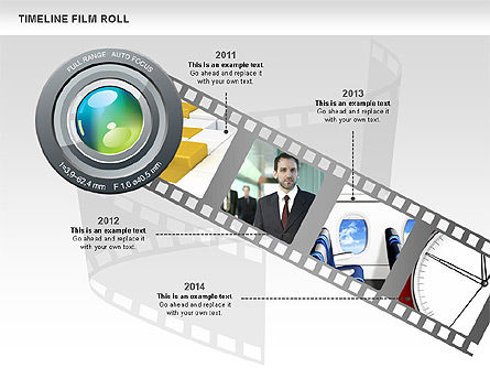 Film Roll Timeline Diagram, Slide 2, 00597, Timelines & Calendars — PoweredTemplate.com