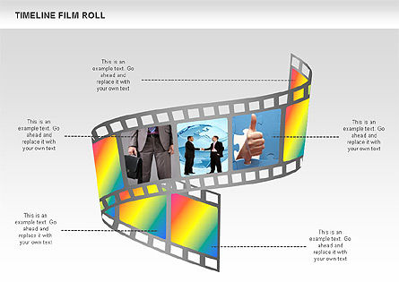 Film Roll Timeline Diagram, Slide 3, 00597, Timelines & Calendars — PoweredTemplate.com
