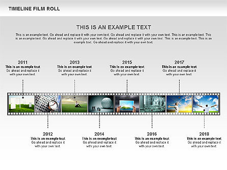 Film Roll Timeline Diagram, Slide 4, 00597, Timelines & Calendars — PoweredTemplate.com