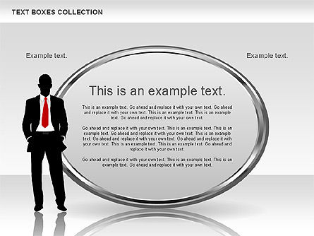 Text Boxes: Metallic tekstvakken collectie #00598