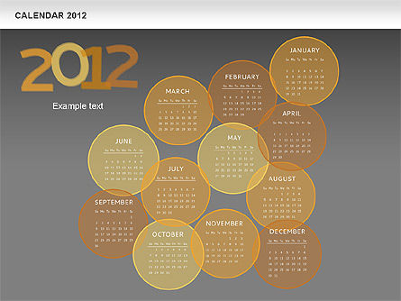 Timelines & Calendars: Powerpoint calendario spot 2012 #00601