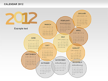 PowerPoint Spots Calendar 2012, Slide 10, 00601, Timelines & Calendars — PoweredTemplate.com
