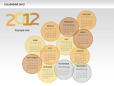 PowerPoint Spots Calendar 2012, Slide 11, 00601, Timelines & Calendars — PoweredTemplate.com