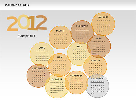 PowerPoint Spots Calendar 2012, Slide 12, 00601, Timelines & Calendars — PoweredTemplate.com