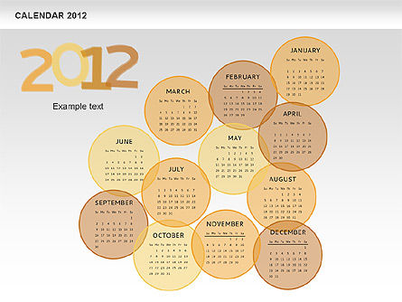 PowerPoint Spots Calendar 2012, Slide 13, 00601, Timelines & Calendars — PoweredTemplate.com