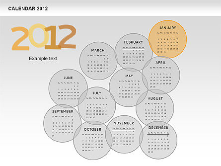 PowerPoint Spots Calendar 2012, Slide 2, 00601, Timelines & Calendars — PoweredTemplate.com