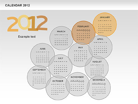 PowerPoint Spots Calendar 2012, Slide 3, 00601, Timelines & Calendars — PoweredTemplate.com