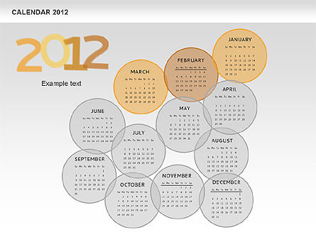 PowerPoint Spots Calendar 2012, Slide 4, 00601, Timelines & Calendars — PoweredTemplate.com