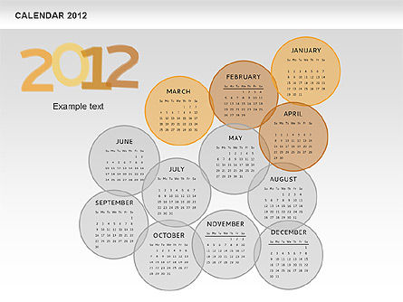 PowerPoint Spots Calendar 2012, Slide 5, 00601, Timelines & Calendars — PoweredTemplate.com