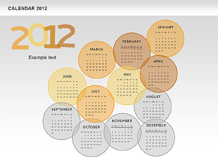 PowerPoint Spots Calendar 2012, Slide 8, 00601, Timelines & Calendars — PoweredTemplate.com
