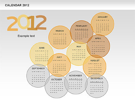 PowerPoint Spots Calendar 2012, Slide 9, 00601, Timelines & Calendars — PoweredTemplate.com