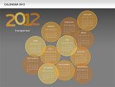 Timelines & Calendars: Powerpoint Spots Kalender 2012 #00601