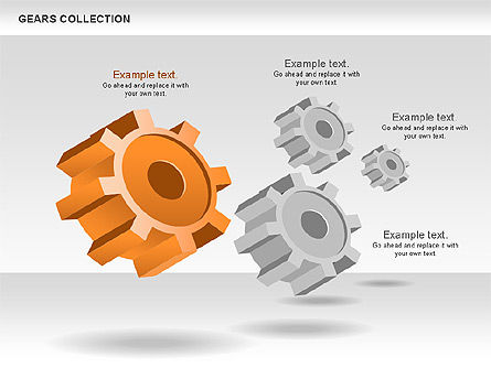 3D Gears Process Shapes