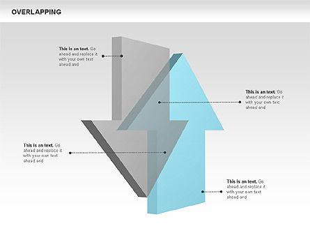 Overlapping Geometrical Shapes, Slide 11, 00605, Shapes — PoweredTemplate.com