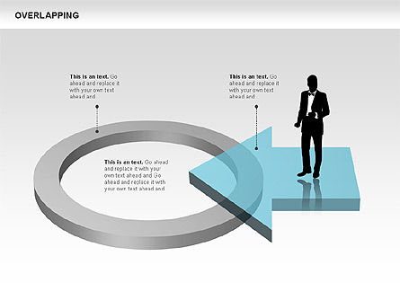 Overlapping Geometrical Shapes, Slide 12, 00605, Shapes — PoweredTemplate.com