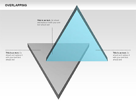 Overlapping Geometrical Shapes, Slide 3, 00605, Shapes — PoweredTemplate.com