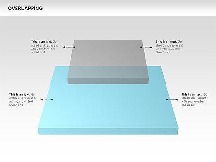 Overlapping Geometrical Shapes, Slide 5, 00605, Shapes — PoweredTemplate.com