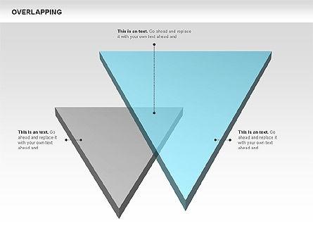 Overlapping Geometrical Shapes, Slide 6, 00605, Shapes — PoweredTemplate.com