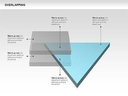 Overlapping Geometrical Shapes, Slide 7, 00605, Shapes — PoweredTemplate.com