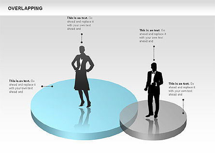 Overlapping Geometrical Shapes, Slide 8, 00605, Shapes — PoweredTemplate.com