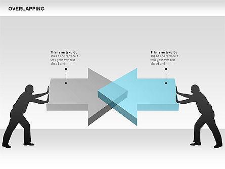 Overlapping Geometrical Shapes, Slide 9, 00605, Shapes — PoweredTemplate.com