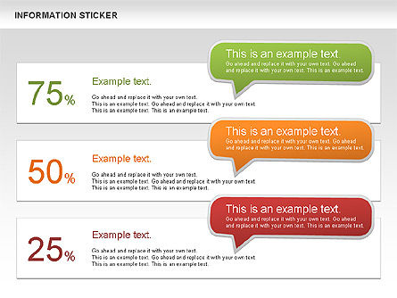 Information Stickers, Slide 11, 00606, Shapes — PoweredTemplate.com