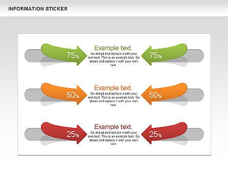 Information Stickers, Slide 3, 00606, Shapes — PoweredTemplate.com