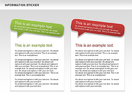 Information Stickers, Slide 4, 00606, Shapes — PoweredTemplate.com