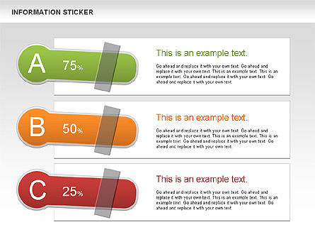 Information Stickers, Slide 6, 00606, Shapes — PoweredTemplate.com