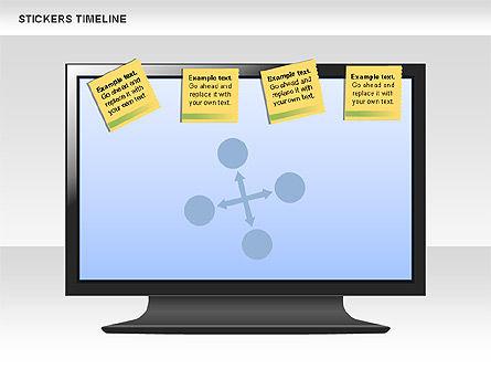 Stickers Timeline Chart, Slide 10, 00607, Timelines & Calendars — PoweredTemplate.com