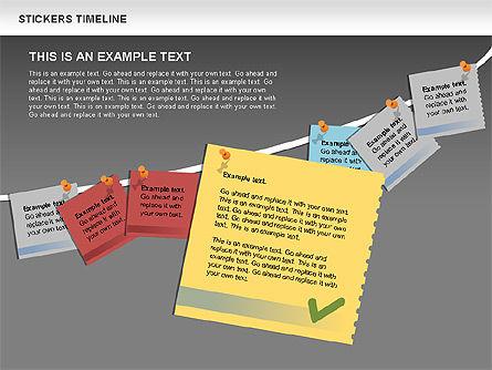 Stickers Timeline Chart, Slide 12, 00607, Timelines & Calendars — PoweredTemplate.com