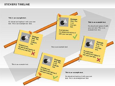 Stickers Timeline Chart, Slide 5, 00607, Timelines & Calendars — PoweredTemplate.com