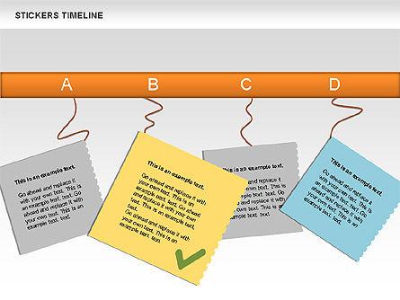 Stickers Timeline Chart, Slide 6, 00607, Timelines & Calendars — PoweredTemplate.com
