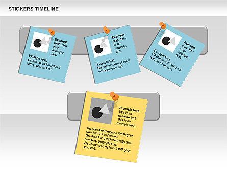 Stickers Timeline Chart, Slide 9, 00607, Timelines & Calendars — PoweredTemplate.com