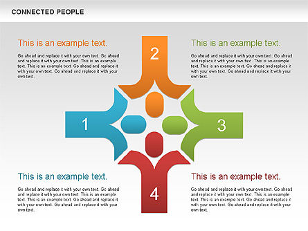Connected People Shapes, Slide 2, 00609, Shapes — PoweredTemplate.com
