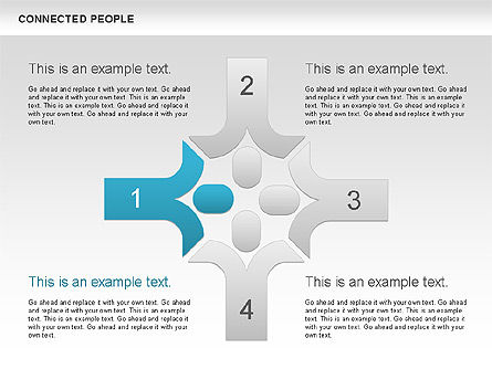 Connected People Shapes, Slide 3, 00609, Shapes — PoweredTemplate.com