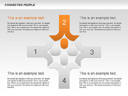 Connected People Shapes, Slide 4, 00609, Shapes — PoweredTemplate.com