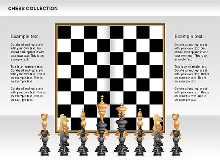 Chess Shapes and Diagrams, Slide 2, 00611, Shapes — PoweredTemplate.com