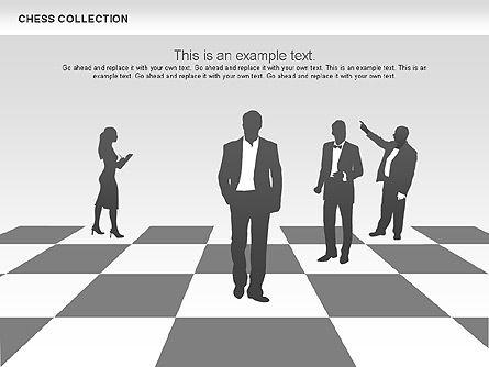 Chess Shapes and Diagrams, Slide 3, 00611, Shapes — PoweredTemplate.com