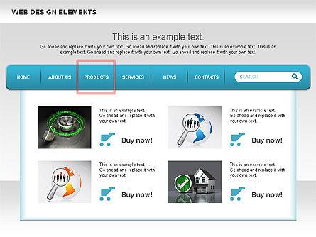 Website Design Diagrams, Slide 3, 00614, Process Diagrams — PoweredTemplate.com