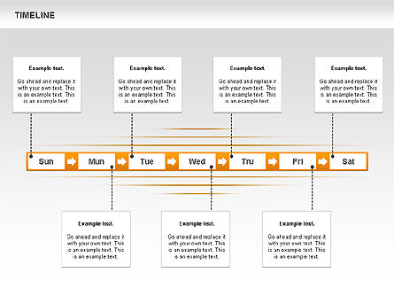 Linked List Timeline Diagram, Slide 2, 00615, Timelines & Calendars — PoweredTemplate.com