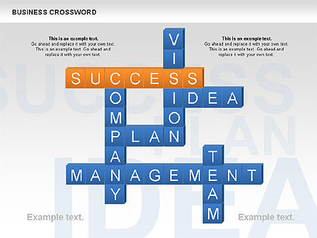 Business Crossword, 00616, Business Models — PoweredTemplate.com