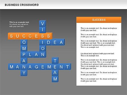 Business Crossword, Slide 10, 00616, Business Models — PoweredTemplate.com
