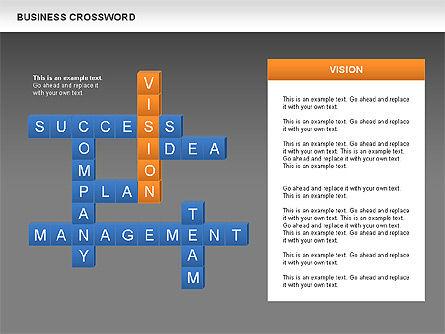 Business Crossword, Slide 11, 00616, Business Models — PoweredTemplate.com