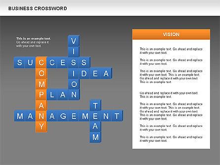 Business Crossword, Slide 13, 00616, Business Models — PoweredTemplate.com