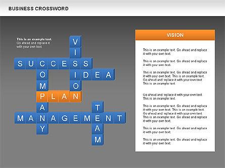Business Crossword, Slide 14, 00616, Business Models — PoweredTemplate.com