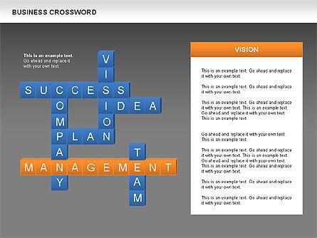Business Crossword, Slide 15, 00616, Business Models — PoweredTemplate.com
