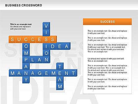 Business Crossword, Slide 2, 00616, Business Models — PoweredTemplate.com