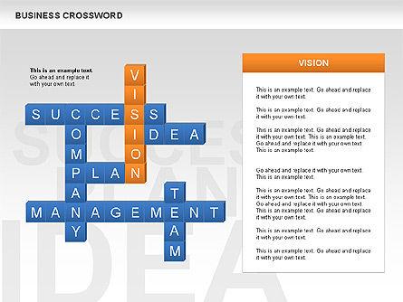 Business Crossword, Slide 3, 00616, Business Models — PoweredTemplate.com