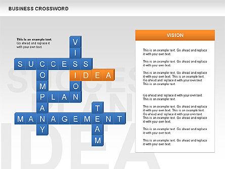 Business Crossword, Slide 4, 00616, Business Models — PoweredTemplate.com